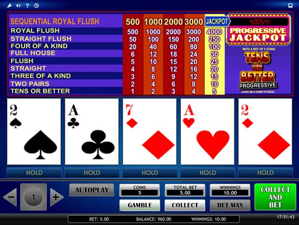 progressive video poker image