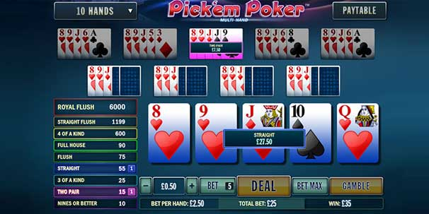 pickem poker screenshot