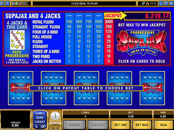 supajax video poker