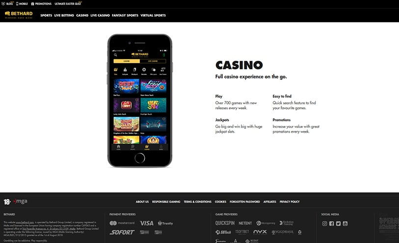 Bethard Casino Review - Bonuses, Software and Games