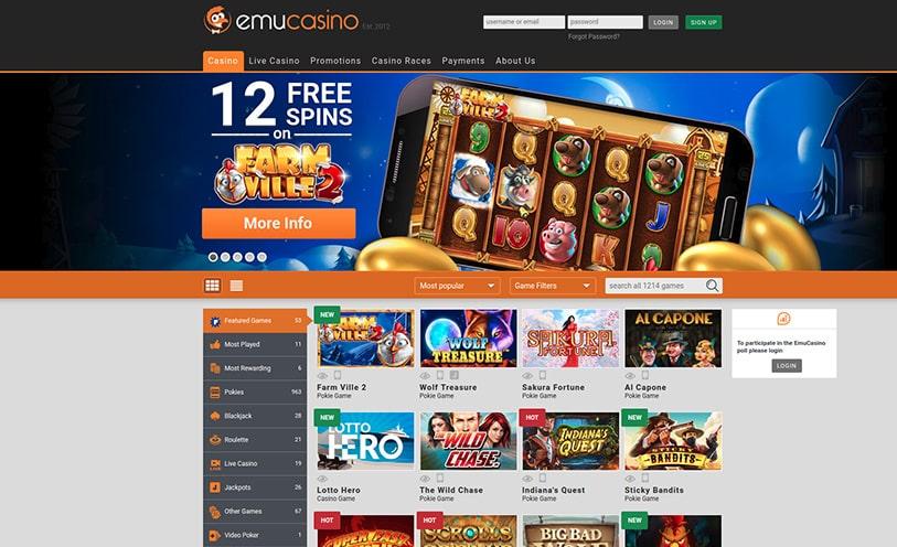Emu Casino Review Bonuses Software And Games