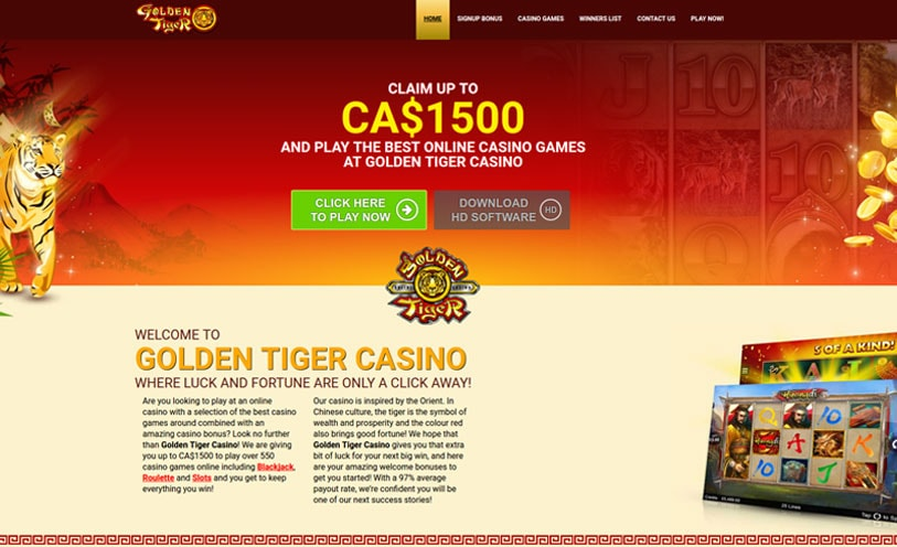 Golden Tiger Casino Review - Bonuses, Software and Games