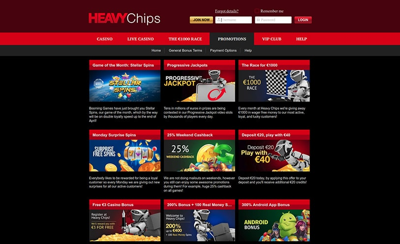 Heavy Chips Casino Review - Bonuses, Software and Games