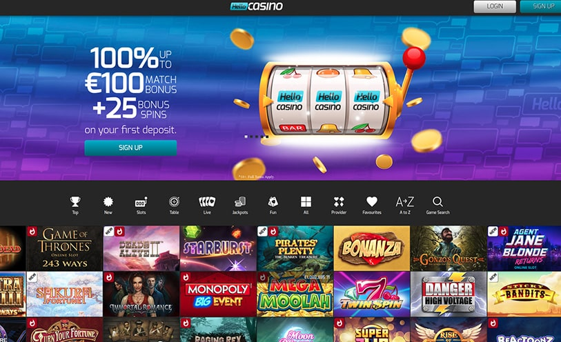 Hello Casino Review - Bonuses, Software and Games