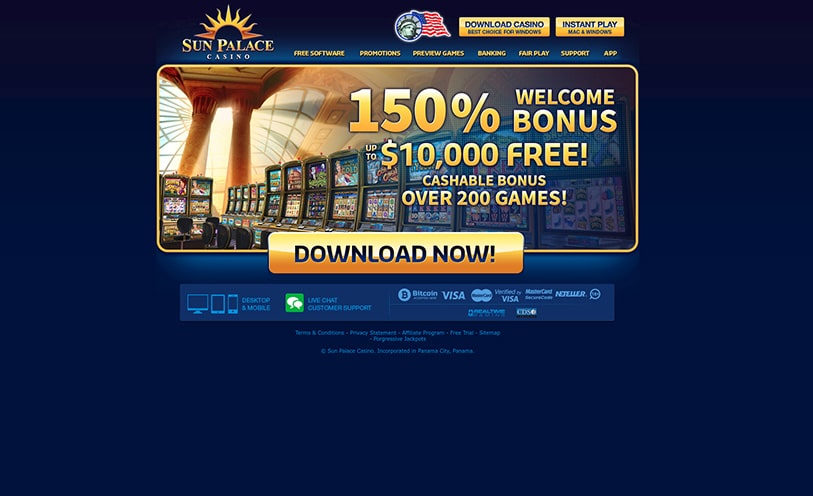 Sun Palace Casino Review - Bonuses, Software and Games