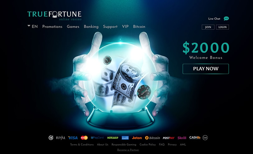 True Fortune Casino Review For Canada